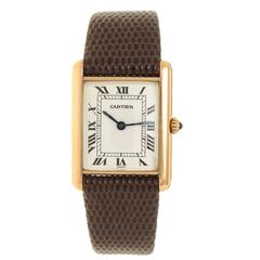 Cartier Classic Louis Cartier Yellow Gold Tank Wristwatch