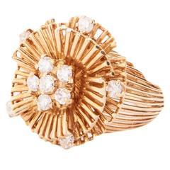 1960 Kutchinsky Diamond Gold Ring