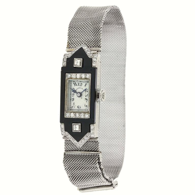 Patek Philippe for Tiffany & Co. Lady's Platinum Wristwatch For Sale