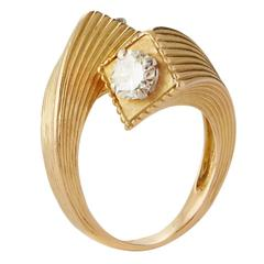1969 Kutchinsky Diamond Gold Twist Ring