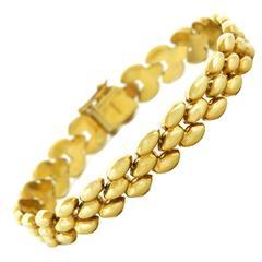 1950s Gold Torpedo Link Bracelet