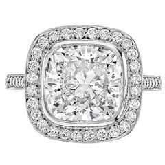Betteridge 4.00 Carat Cushion Brilliant-Cut Diamond Ring