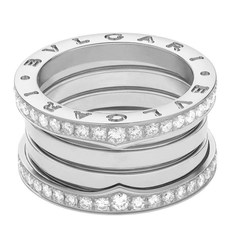 bulgari bzero1 diamond gold 4band ring 1