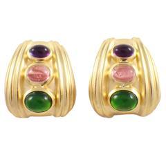 Seidengang Tourmaline Gold Earrings