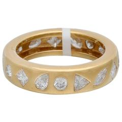 Chanel Multi Shaped Diamond Gold Band Ring