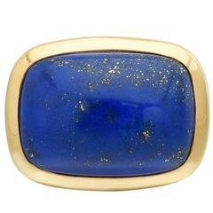 Seaman Schepps Lapis Lazuli Gold Lozenge Ring
