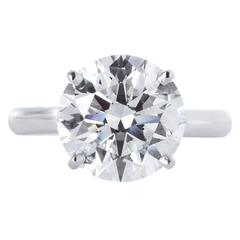 1.70 Carat GIA Cert Round Diamond Solitaire Ring