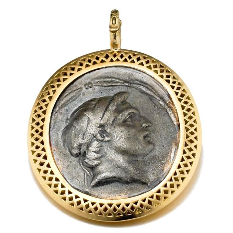 Ray Griffiths Sterling Gold Coin Replica Crownwork Pendant
