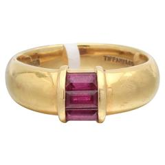 Tiffany & Co. Ruby Gold Band Ring
