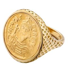 Ray Griffiths Gold Replica Coin Ring