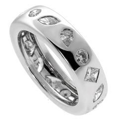 Chanel Fancy Diamond Eternity Gold Ring