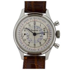 Breitling Stainless Steel Chronograph Doctors Pulsation Watch