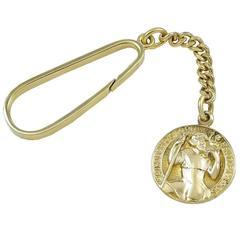 Tiffany & Co. St. Christopher Gold Key Ring