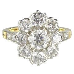 New Diamond Platinum Gold Engagement Ring