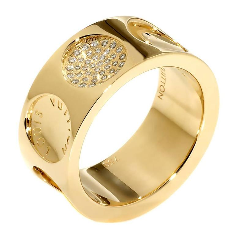 Louis Vuitton Empreinte Diamond Gold Ring