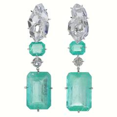 Rockstar III Emerald Earrings