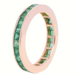 Fouché Emerald Gold Eternity Ring, Made to Order
