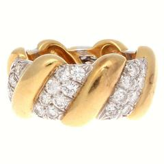 David Webb Diamond Gold Ring