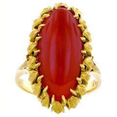 1960s Italian Coral Gold Ring
