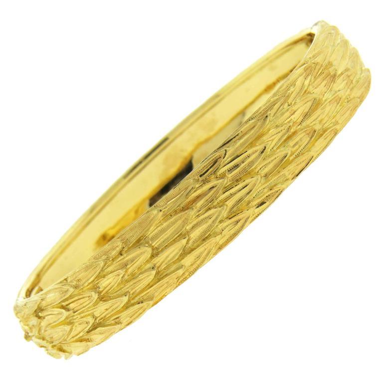 Buccellati Gold Textured Bangle Bracelet