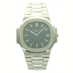 Patek Philippe Stainless Steel Jumbo Nautilus Wristwatch Ref  3700