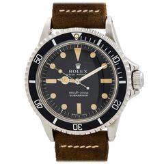 Rolex Stainless Steel Submariner Wristwatch Ref 5513 circa 1974
