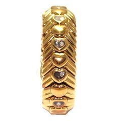 Chopard Happy Diamonds Diamond Gold Semi-Rigid Bracelet