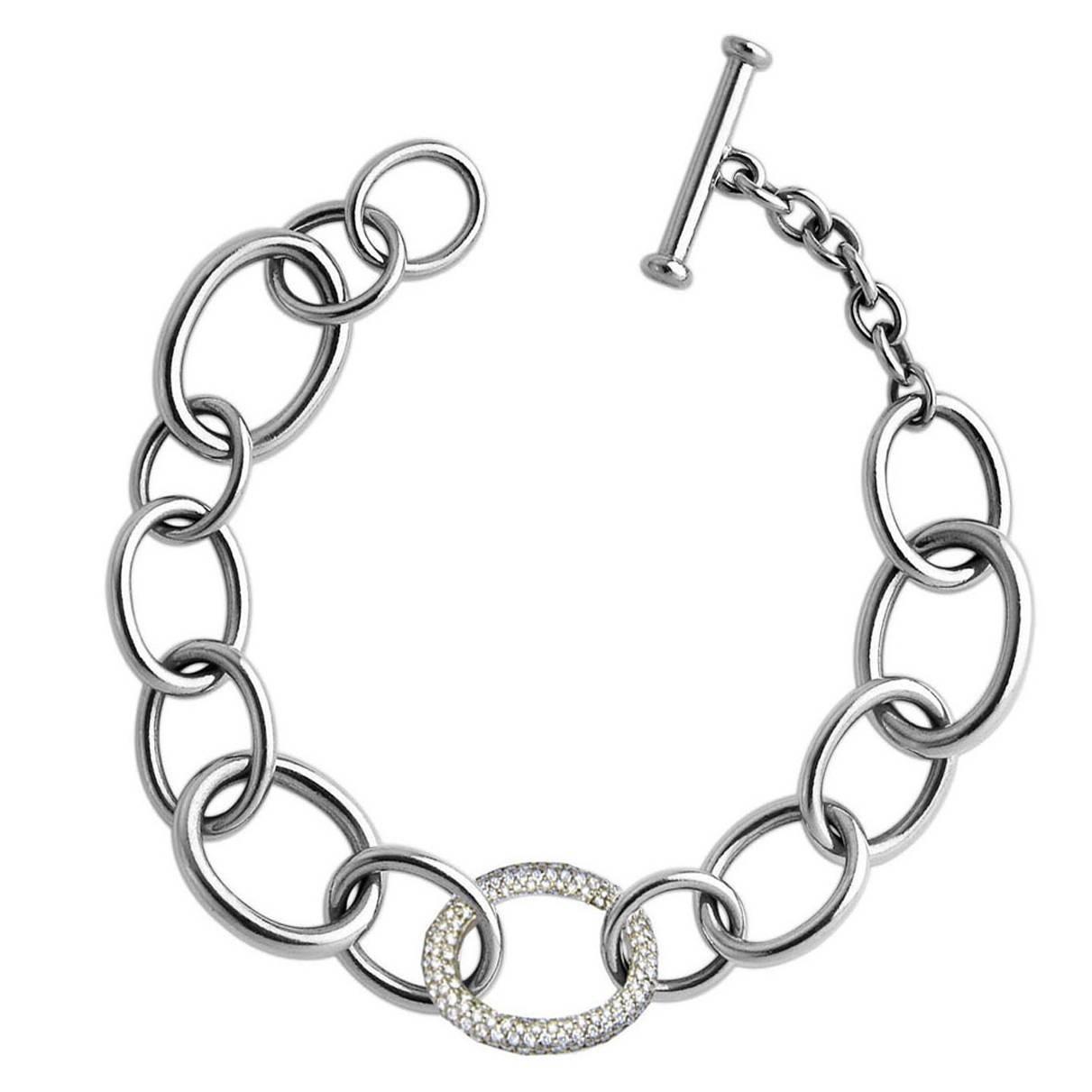 Colleen B. Rosenblat Gold Bracelet With Diamond Loop