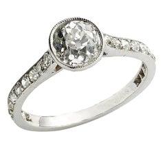 1.20 Carat Diamond Platinum Single Stone Ring