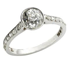 1.20 Carat Diamond Platinum Single Stone Ring