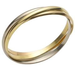"Cartier Three Color Gold ""Trinity"" Bangle Bracelet"