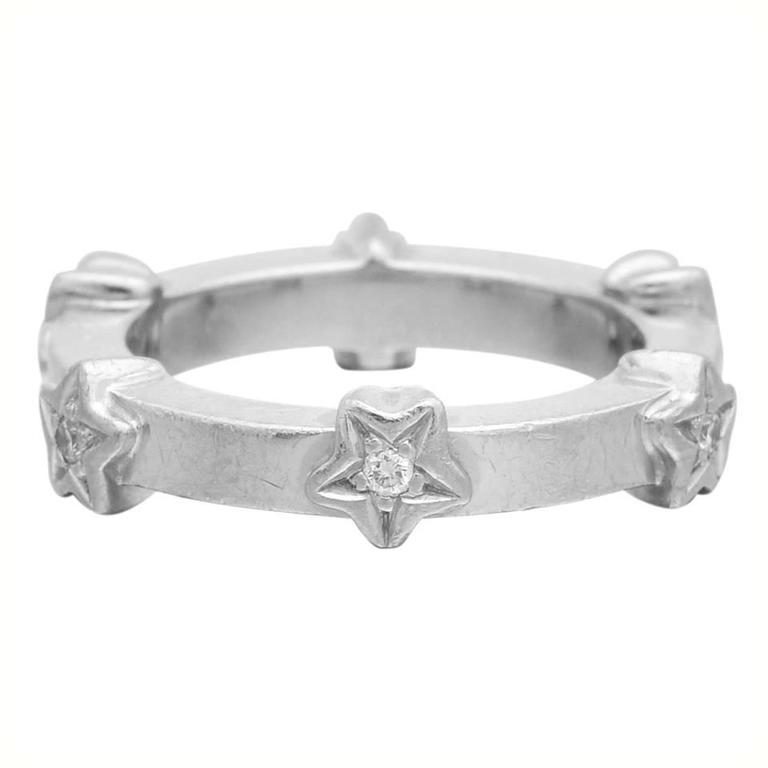 Chanel Diamond Gold Star Band Ring