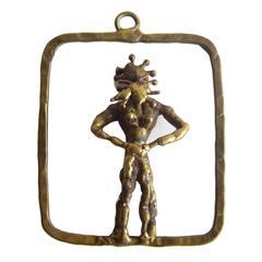Pal Kepenyes Bronze Erotic Figural Pendant Necklace