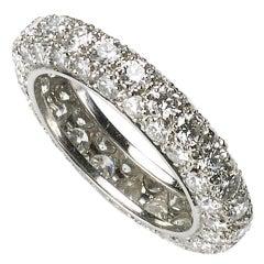 Diamond Platinum Full Eternity Band Ring