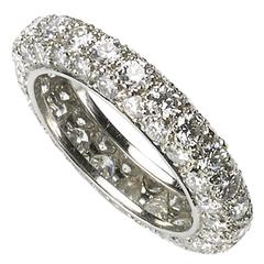 Diamond Platinum Full Eternity Band Ring