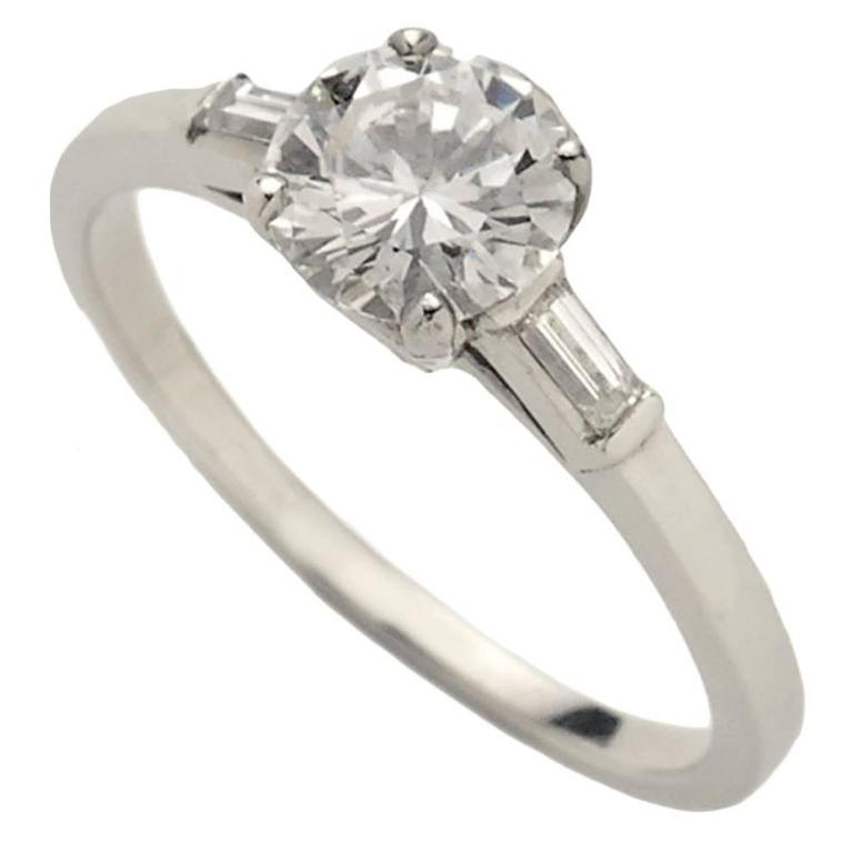 .81 Carat Single Stone Diamond Platinum Ring