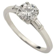 .81 Carat Single Stone Diamond Platinum Ring
