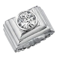 Belperron Diamond Platinum Ring