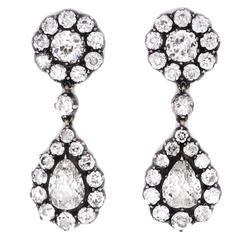 Late Victorian Diamond Drop Earrings