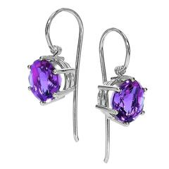 Erich Zimmermann Matched Violet Amethyst Gold Handmade Princess Earrings