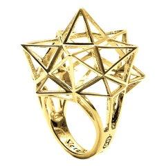 18K Gold Framework Star Ring
