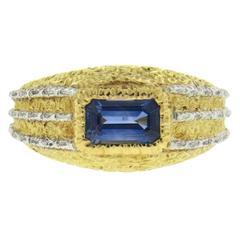 Mario Buccellati Sapphire Gold Ring