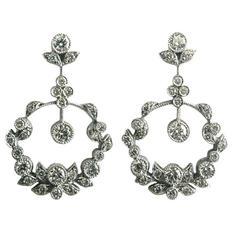 Dalben Diamond Gold Pendant Earrings