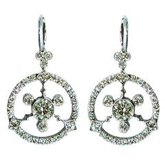 Dalben Diamond Gold Pendant Earrings