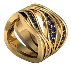 Christoph Blatter and Sparkles Sapphire Gold Ring