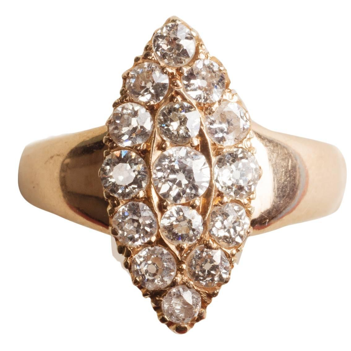 Marquise Diamond Gold Ring For Sale At 1stdibs