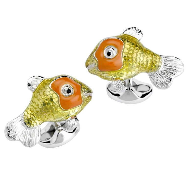 Deakin & Francis Tropical Fish Cufflinks For Sale