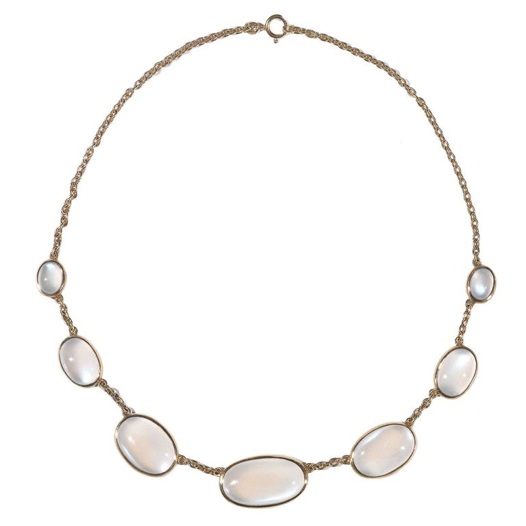 Moonstone Gold Necklace 1