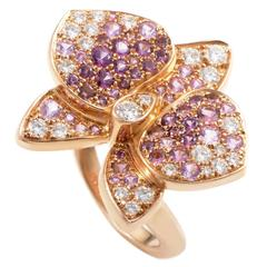 Cartier Caresse d'Orchidées Par Cartier Gemstone Diamond Gold Ring
