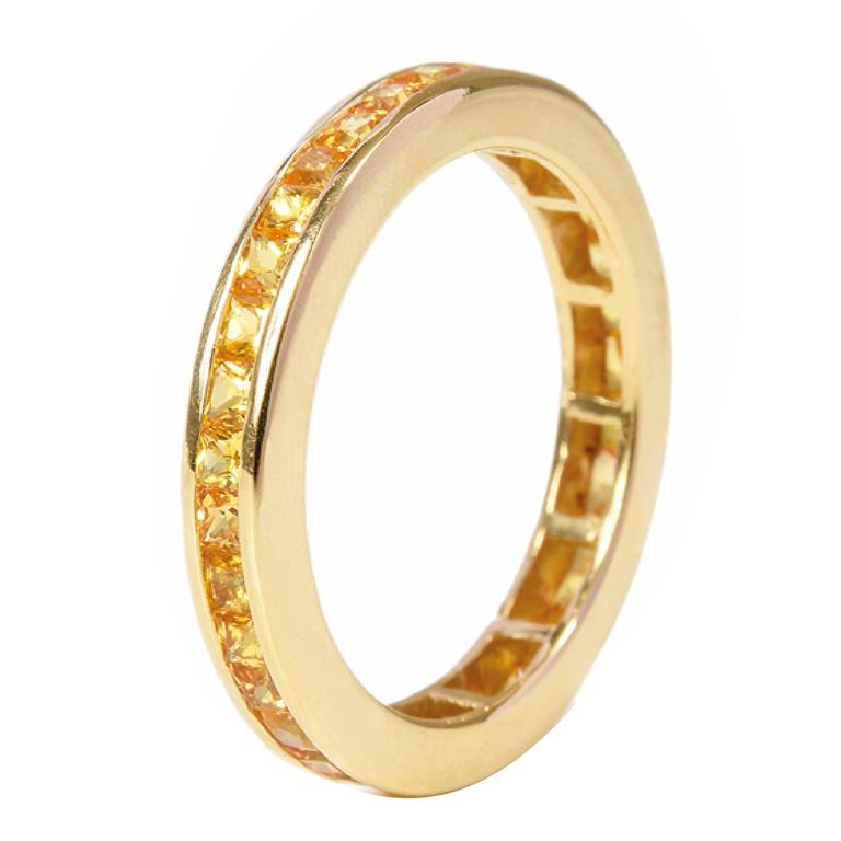 Fouché Sapphire Gold Eternity Ring, Made to Order